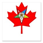OES Canadian Maple Leaf Square Car Magnet 3