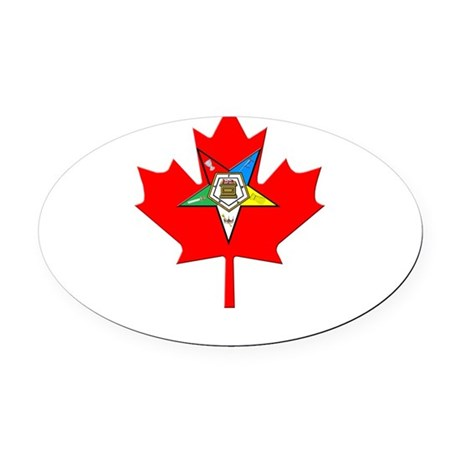 OES Canadian Maple Leaf Oval Car Magnet