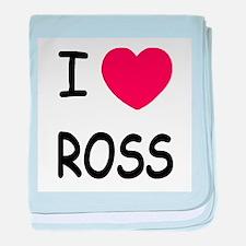 I heart ROSS baby blanket