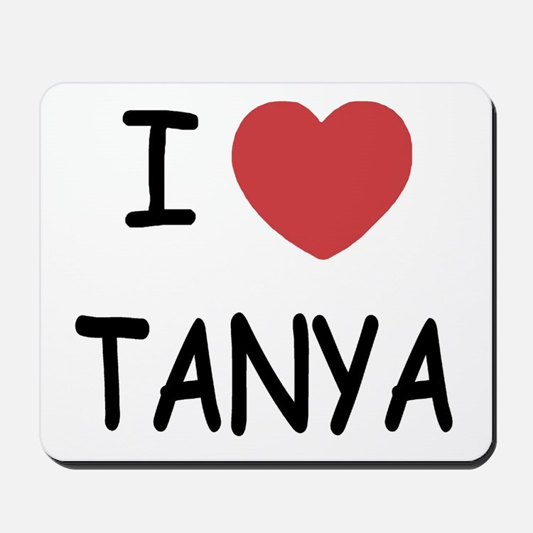 I heart TANYA Mousepad