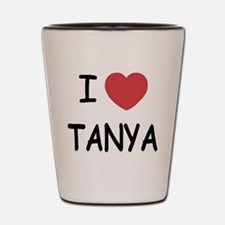 I heart TANYA Shot Glass