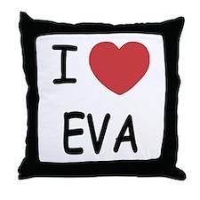I heart EVA Throw Pillow