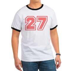 Varsity Uniform Number 27 (Pink) T