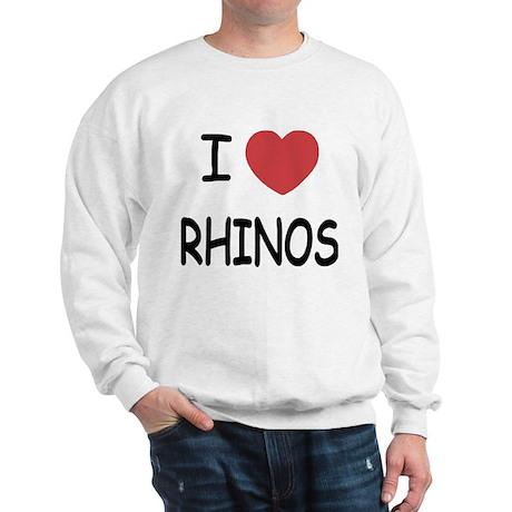 I heart rhinos Sweatshirt