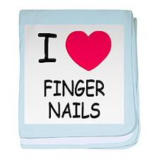 I heart fingernails baby blanket