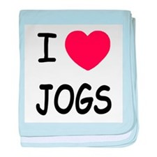 I heart jogs baby blanket