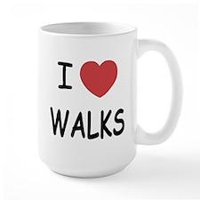I heart walks Mug