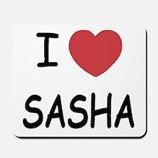 I heart SASHA Mousepad