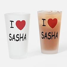 I heart SASHA Drinking Glass