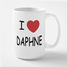 I heart DAPHNE Large Mug