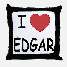 I heart EDGAR Throw Pillow