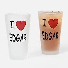 I heart EDGAR Drinking Glass