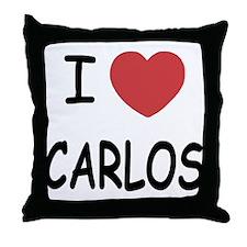 I heart CARLOS Throw Pillow