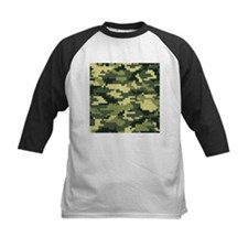 8 Bit Pixel Woodland Camouflage Tee