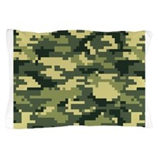 8 Bit Pixel Woodland Camouflage Pillow Case
