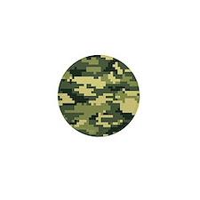 8 Bit Pixel Woodland Camouflage Mini Button