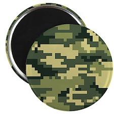 "8 Bit Pixel Woodland Camouflage 2.25"" Magnet (10 p"