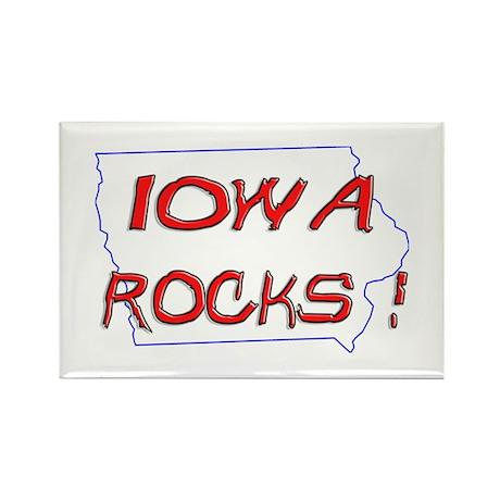 Iowa Rocks ! Rectangle Magnet (100 pack)