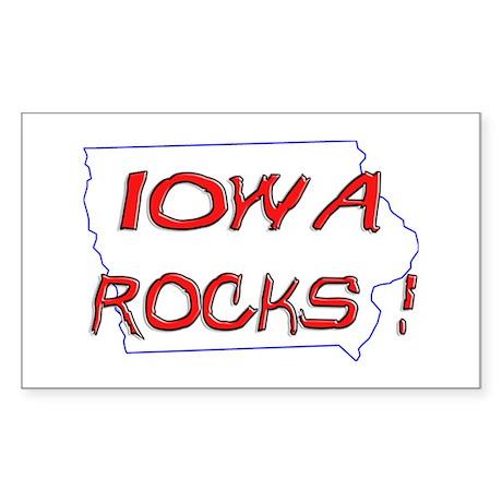 Iowa Rocks ! Rectangle Sticker