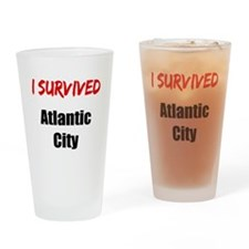 I survived ATLANTIC CITY Drinking Glass
