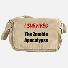 I survived THE ZOMBIE APOCALYPSE Messenger Bag