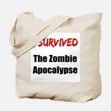 I survived THE ZOMBIE APOCALYPSE Tote Bag
