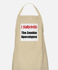 I survived THE ZOMBIE APOCALYPSE Apron