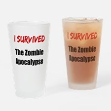 I survived THE ZOMBIE APOCALYPSE Drinking Glass