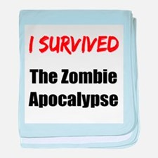 I survived THE ZOMBIE APOCALYPSE baby blanket