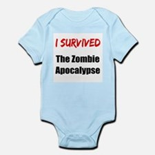I survived THE ZOMBIE APOCALYPSE Infant Bodysuit
