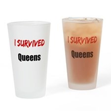 I survived QUEENS Drinking Glass