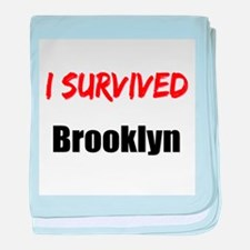 I survived BROOKLYN baby blanket