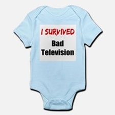 I survived BAD TELEVISION Infant Bodysuit
