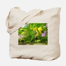 Parrot in the pumpkin patch Tote Bag