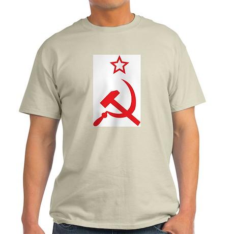 Star, Hammer and Sickle Ash Grey T-Shirt