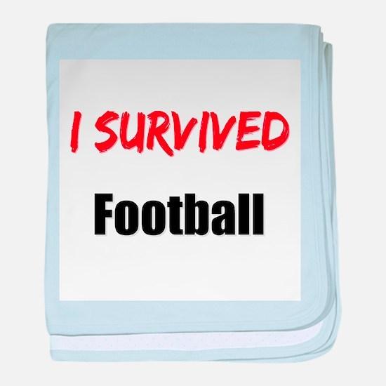 I survived FOOTBALL baby blanket