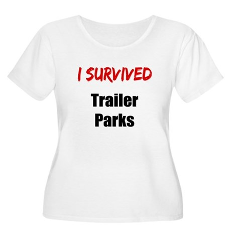 I survived TRAILER PARKS Women's Plus Size Scoop N