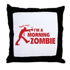 Morning Zombie Throw Pillow