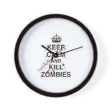 Keep Calm And Kill Zombies Wall Clock