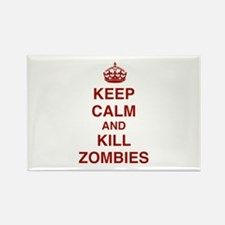 Keep Calm And Kill Zombies Rectangle Magnet (100 p