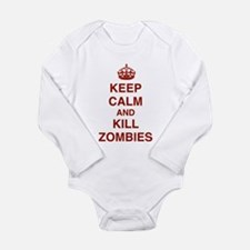 Keep Calm And Kill Zombies Long Sleeve Infant Body