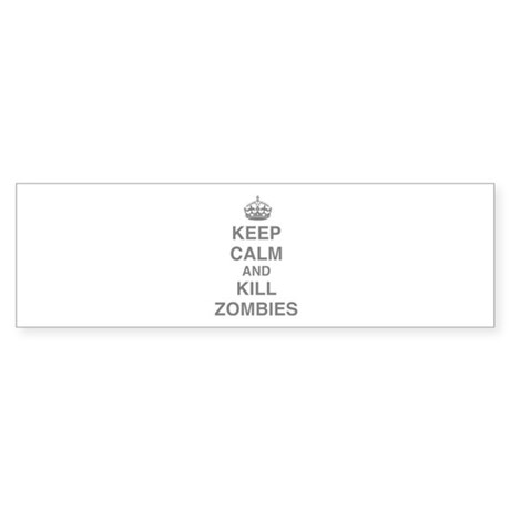 Keep Calm And Kill Zombies Sticker (Bumper 50 pk)