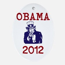 Obama 2012 Ornament (Oval)