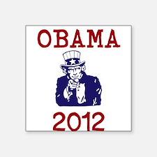 "Obama 2012 Square Sticker 3"" x 3"""