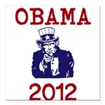 Obama 2012 Square Car Magnet 3
