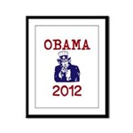 Obama 2012 Framed Panel Print