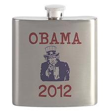 Obama 2012 Flask