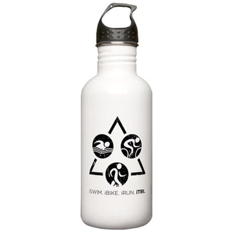 iSwim iBike iRun iTri Stainless Water Bottle 1.0L