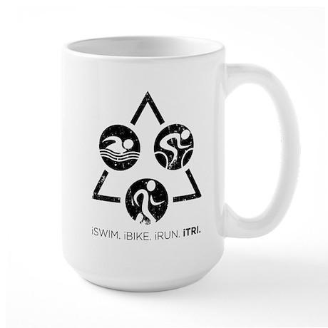 iSwim iBike iRun iTri Large Mug
