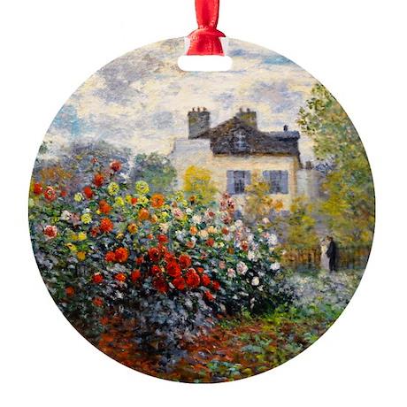 Monet - Argenteuil Round Ornament